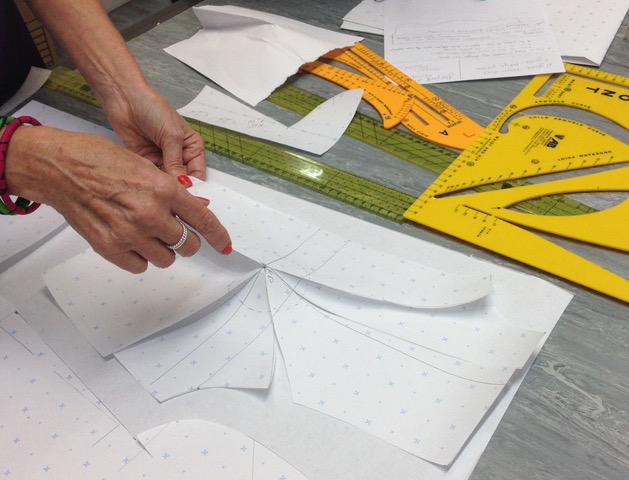 Pattern drftaing workshop with Dawn Foxall